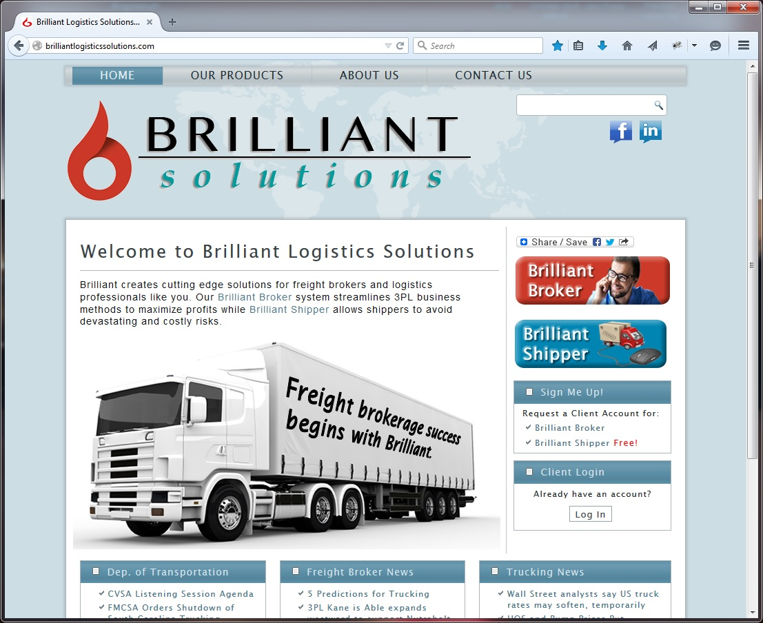 Brilliant Logistics Solutions Screenshot